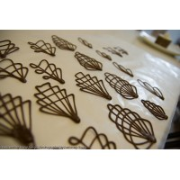 Piped Chocolate Art