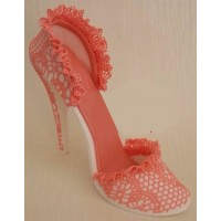 Lace art on Fondant High Heel