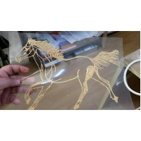 Horse in Gold Sugar Lace