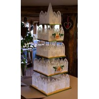 Cake Art in Cake Lace White