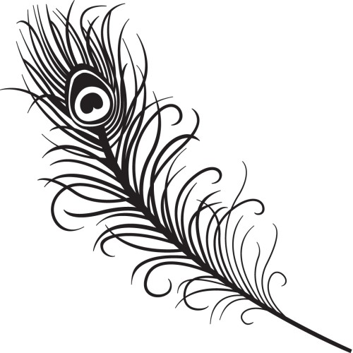 Template for Peacock feather template