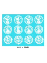 Cupcake Lace Mats - Wedding Angels Cupcake Toppers