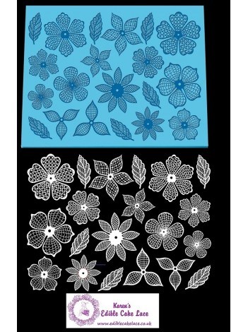 3D HD Cake Lace Mat For Cake Decoration - Floral Fantasy Cake Lace Mat