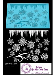 3D HD Cake Lace Mat For Cake Decoration - Frozen Crystal Cake Lace Mat