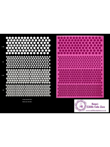 3D HD Cake Lace Mat For Cake Decoration - 3D Sequin Cake Lace Mat - 4 Designs of Sequin