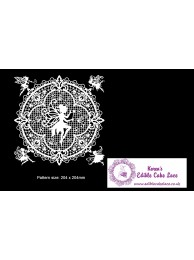 3D HD Cake Lace Mat For Cake Decoration - Angel Fantasy Doily Cake Lace Mat
