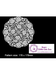 3D HD Cake Lace Mat For Cake Decoration -Victoriana Floral Doily | Cake Lace Mat