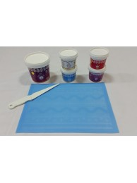 Cake Lace Starter Kit 8  ( Cake Lace Mix or Premix + Spreading Knife + Cake Lace Mats)