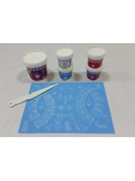 Cake Lace Starter Kit 10 ( Cake Lace Mix or Premix + Spreading Knife + Cake Lace Mats)