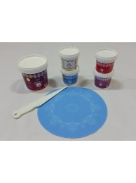 Cake Lace Starter Kit 14 ( Cake Lace Mix or Premix + Spreading Knife + Cake Lace Mats)