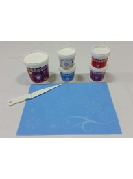 Cake Lace Starter Kit 17  ( Cake Lace Mix or Premix + Spreading Knife + Cake Lace Mats)