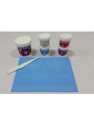Cake Lace Starter Kit 25 ( Cake Lace Mix or Premix + Spreading Knife + Cake Lace Mats)