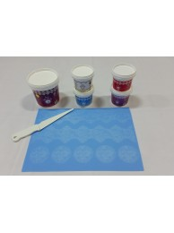 Cake Lace Starter Kit 31 ( Cake Lace Mix or Premix + Spreading Knife + Cake Lace Mats)