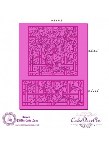 Cake Lace Mat For Cake Decoration - 3D HD Cake Lace Mesh - Stain Glass Design - Suitable with Edible Glass Panels