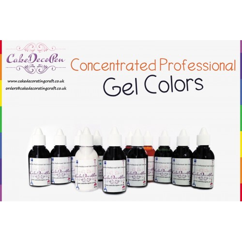 Chocolate Brown | Gel Food Colors | Concentrated ProGel | Cake ...