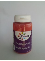 Red Metallic Pearl Lustre Dust Petal Dust for Cake Decorating - 25 Grams