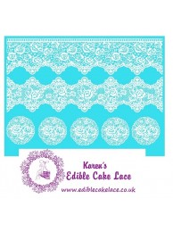 Cake Lace Mat For Cake Decoration - Victorian Rose