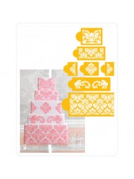 Damask Design 2 - Stencil For CupCake Craft