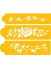 Rose Design - Stencil For Cake & CupCake