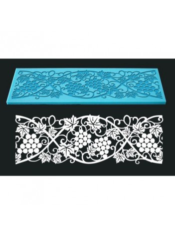 Single Lace Mat For Cake - Design 8 - Wine